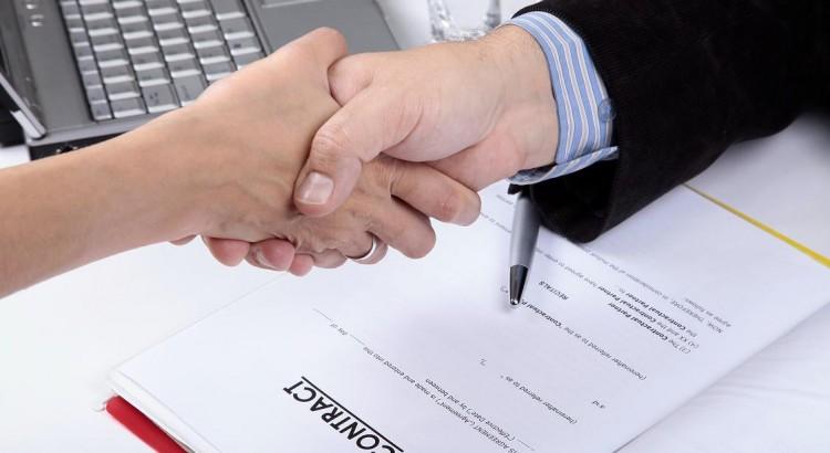 Deal. handshake of Business People